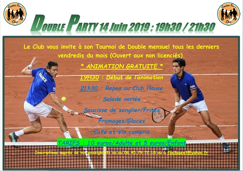 Double Party du 14 JUIN